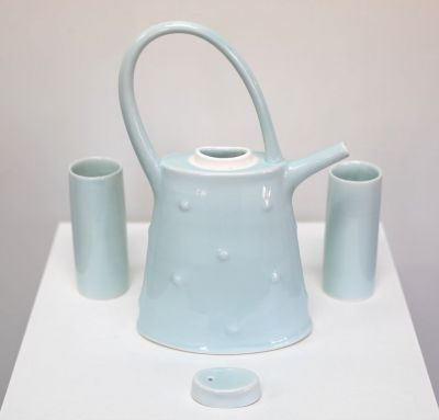 blue bump tea set | tricia thom